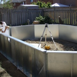 Levelling and squaring walls