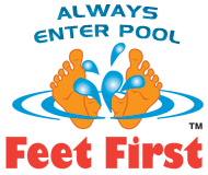 enter pool feet first