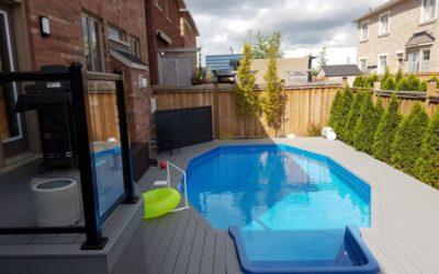 Pool-sized Backyard