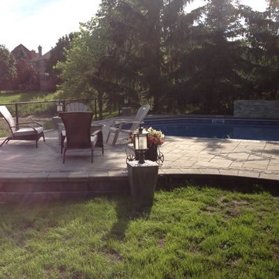 Retaining Wall Pool and Decking